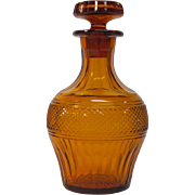 Vintage Anglo-Irish Style Amber Decanter
