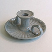 English Stoneware Candleholder ca 1850