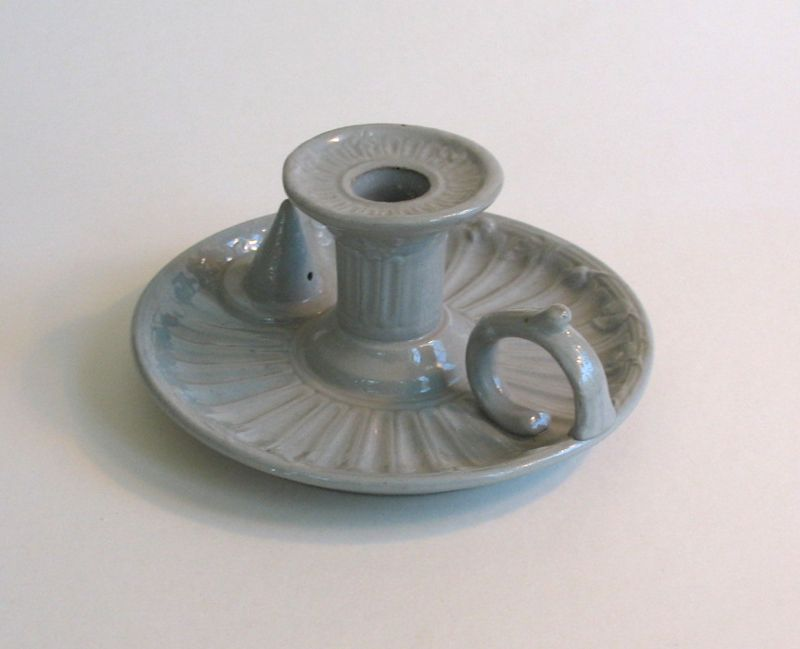 English Stoneware Candleholder ca 1850