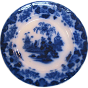 "Scinde Flow Blue 10.5"" Plate ca. 1845 - Red Tag Sale Item"