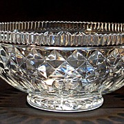Large Anglo-Irish Style Cut Glass Bowl
