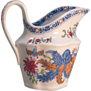 "New Hall ""Tobacco Leaf"" Creamer ca. 1800"