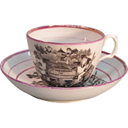 Princess Charlotte Memorial Cup and Saucer