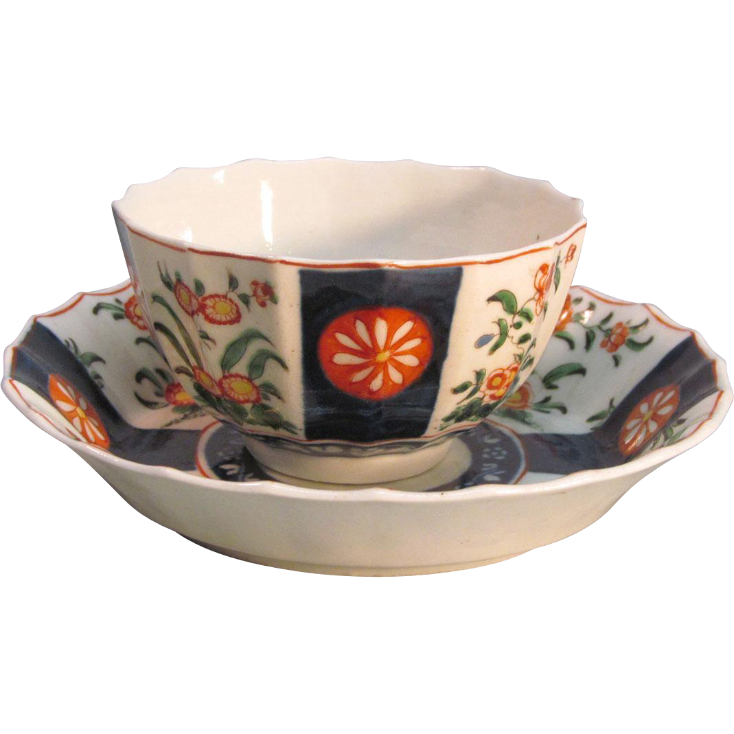 Worcester Cup and Saucer ca. 1775