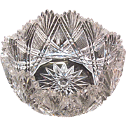 Small Cut Glass Bowl ca. 1900