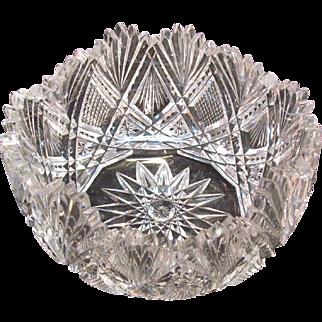 Small Cut Glass Bowl ca. 1900