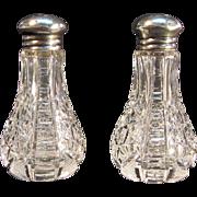 Cut Glass Salt and Pepper Shakers ca. 1900