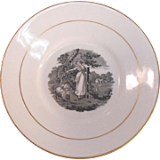 Porcelain Plate with Pastoral Scene ca. 1825