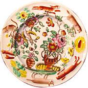 Earthenware Decorated Animal Motifs Plate ca. 1825
