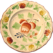 Earthenware Floral Decorated Plate ca. 1825