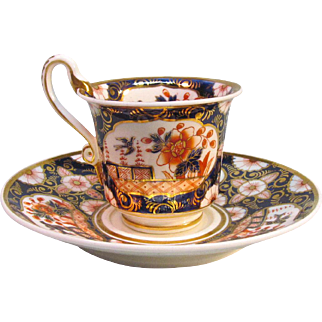 "Spode ""Japan"" cup and saucer ca. 1820"