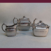 Silver Luster Tea Set ca. 1825