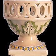 Creamware Openwork Small Urn ca. 1800