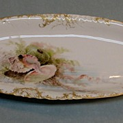 Hand Painted Limoges Fish Platter ca. 1895