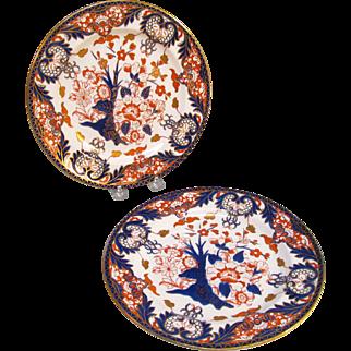 Pair Royal Crown Derby Plates ca 1896
