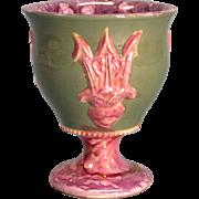 Pink Splash Luster vase circa 1840