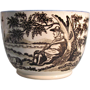 Pearlware Bowl with Transfer Printing ca. 1800