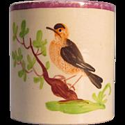 Child's or Toy Mug with Bird ca. 1825