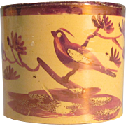 Luster Decorated Child's or Toy Mug ca. 1825