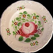 Rose Decorated Miniature Plate ca. 1820