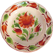 Gaudy Floral Miniature Plate ca. 1825 (restored)
