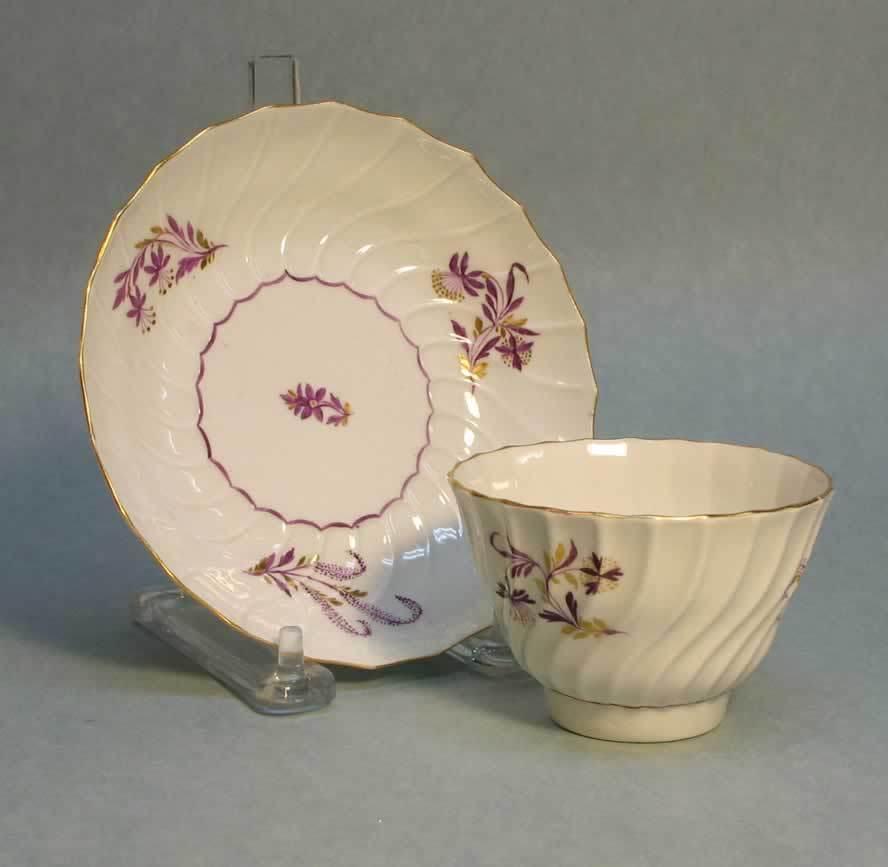 Worcester Tea Bowl and Saucer ca. 1795