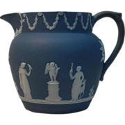 Wedgwood Blue Dip Pitcher 19th century