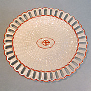 Wedgwood Creamware Basketweave Pattern Oval Tray ca 1810