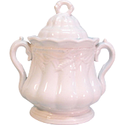 "White Ironstone ""Ceres"" Sugar Bowl ca. 1865"