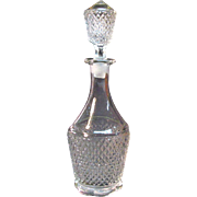 Flint Diamond Point Decanter ca. 1850-70