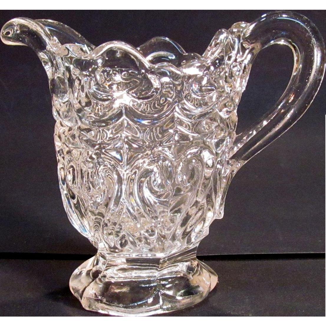 Flint Glass Creamer circa 1860