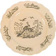 "Creamware Plate with ""Exotic Birds"" ca. 1790"
