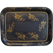 Antique Tole Tray with Gold Decoration ca. 1845