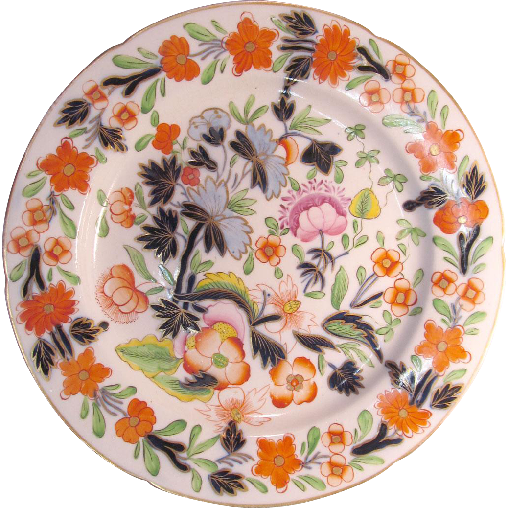 """Japan"" Pattern English Porcelain 9.5"" Plate ca. 1825"