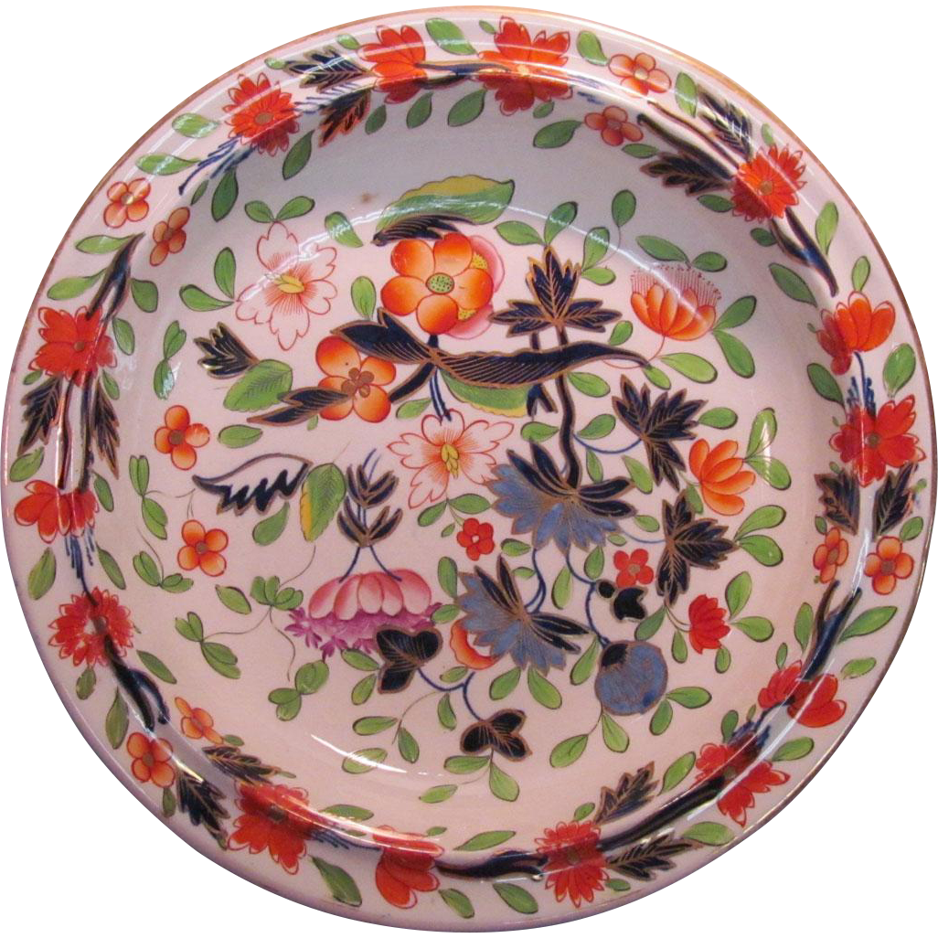 """""""Japan"""" Pattern English Large Porcelain Bowl ca. 1825"""