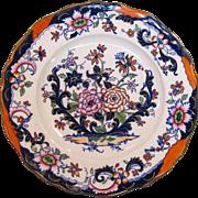 Decorated Ironstone Plate ca. 1860