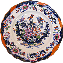 Decorated Ironstone Plate ca. 1860
