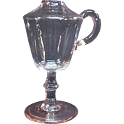 """Early """"Wine Glass"""" whale oil lamp circa 1820"""