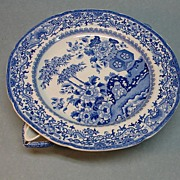 Blue and White Staffordshire Warming Dish ca. 1835-40