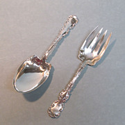 "Whiting Sterling ""Louis XV"" Salad Set 1891"