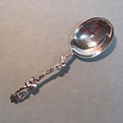 Asprey English Sterling Grapevine Handle Spoon