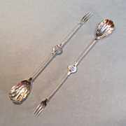Pair Sterling Victorian Pickle/Olive Forks