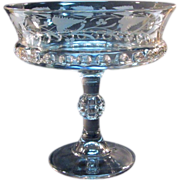 Etched Dakota Pattern Glass Compote ca. 1890