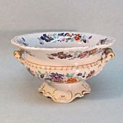 Hicks & Meigh Decorated Ironstone Compote ca. 1825