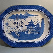 """Stone China"" Well and Tree Platter ca. 1825"