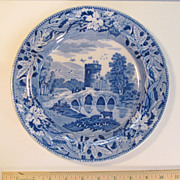 "Staffordshire Plate ""Bridge of Lucano"" ca. 1835"