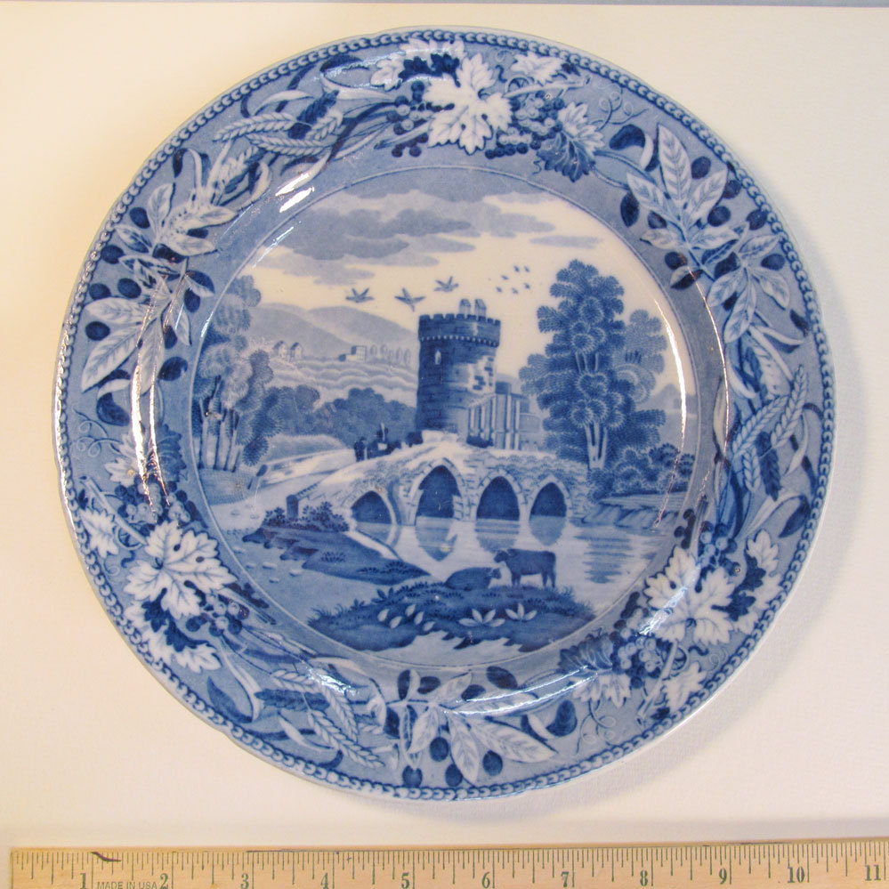 "Staffordshire Plate ""Bridge of Lucano"" ca. 1835"