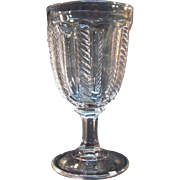 Cable Flint Goblet ca 1850-60