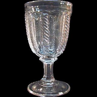 Cable Flint Goblet ca 1850-60