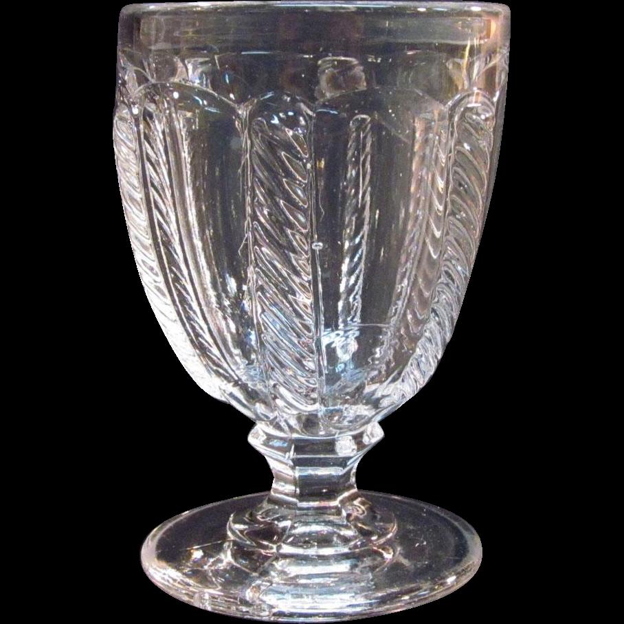 Cable Flint Eggcup ca 1850-60